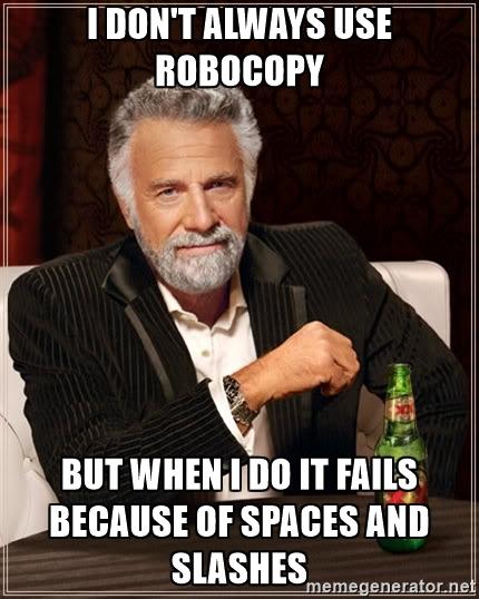 robocopy meme
